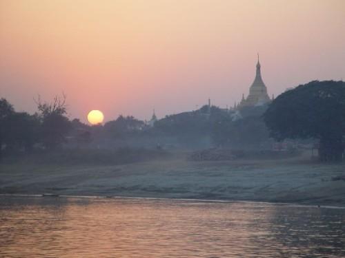 sunset at sagaingburma